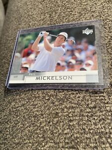 """2002 UPPER DECK GOLF PHIL MICKELSON """"SILVER PARALLEL"""" ROOKIE CARD, #41!!!"""