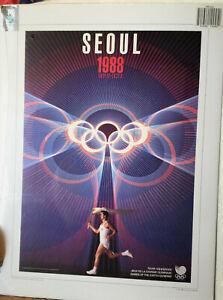 "1988 Seoul Olympics Poster, print 16"" x 12"""