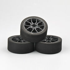 4X 67MM Foam Tire Wheel Rims Set 12mm Hex Fit 1/10 On-road RC Competition 23002