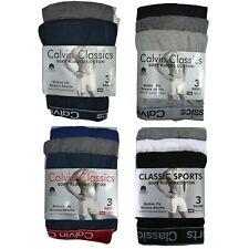 3 Pack Mens Boxers Shorts Calvin Classics Sports Comfort Fit Underwear Briefs