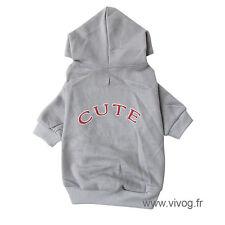 """sweat jogging """"cute"""" pour petit chien longueur 25 cm"""