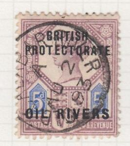 NIGER COAST PROTECTORATE - OIL RIVERS 5  USED - OLD CALABAR SON CANCEL!