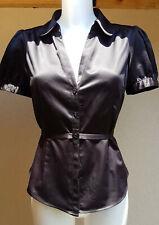 Chemisier H&M noir toucher soie, taille M 38