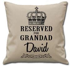 Personalised Reserved For Grandad Cushion Cover Birthday Christmas Keepsake