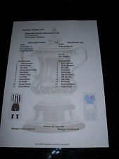 1955 FA Cup Final Newcastle United V Manchester City matchsheet