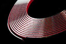 5 Metros coche de cromo de estilo Fundicion Tiras Trim Adhesivo Ancho De 6mm X 2 Mm De Profundidad