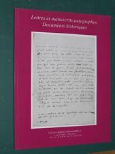 """Catalogue Lettres et manuscrits autographes  N° 5 Galerie """"Arts et Autographes"""""""
