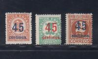 ESPAÑA (1938)SERIE COMPLETA EDIFIL 742/44 SELLOS NUEVOS SIN FIJASELLOS MNH LOTE1