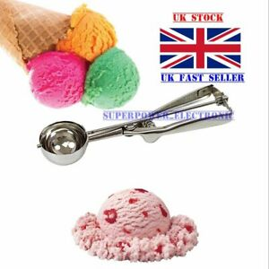 Ice Cream Scoop Stainless Steel Mash Potato Spoon Kitchen Tool Server Food