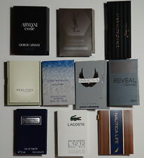 Lot of 10 Mens Cologne Samples Armani Dolce & Gabbana YSL Lacoste Nautica CK