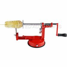Manual twisted spiral potato slicer stainless steel French fry cutter machine