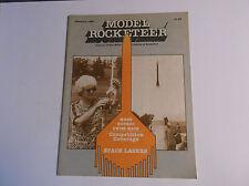 VINTAGE FEB 1982 MODEL ROCKETEER JOURNAL NATIONAL ASSOC OF ROCKETRY *VG-COND*