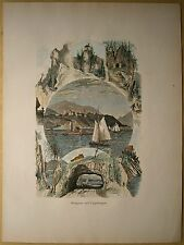 1884 print WEST POINT AND VICINITY, HUDSON RIVER, NEW YORK STATE (#24)