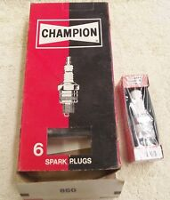 Champion Spark Plug 860 NOS Set of 6 Brand New Plugs