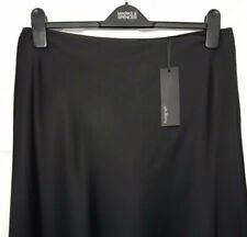 M&S Ladies Skirt Black Satin Stretch Aline 10 Maxi BNWT Marks Autograph £59