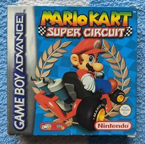 Mario Kart Super Circuit for Nintendo Gameboy Advance GBA Boxed