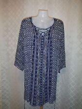 Long Sleeve light Dresses Sonoma XL,L,M,S,Multi Purple and Blue 100% rayon NWT