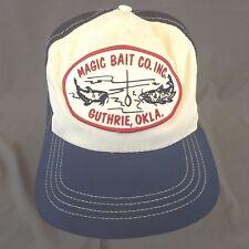 Magic Bait Co Inc Guthrie, Okla Snapback Trucker Hat Baseball Cap Patch Mesh USA
