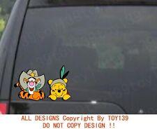"Disney Vigny Winnie and Tigger""Peeking"" Car Truck Laptop Vinyl Car Decal Sticker"