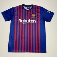 Messi #10 FCB Rakuten Mens Soccer Jersey Red Blue Stripe Barca Unicef  M