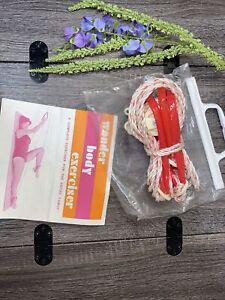 Vintage Wonder Body Exerciser Trimmer Slim Shaper Door Knob Pulley Ropes Red