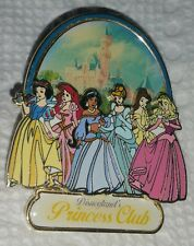 DISNEY PIN DLR PRINCESS CLUB DISNEYLAND RESORT JASMINE ARIEL BELLE AURORA