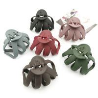 Geometric Frosted Hair Claws Crab Plastic Hair Clip Barrettes Hair Accessories