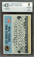 1966 philadelphia #92 LOS ANGELES RAMS team card BGS BCCG 8