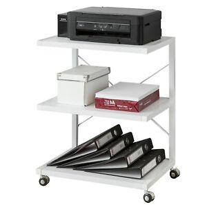 SoBuy Drucker-Rolltisch Druckerständer Beistelltisch Rollwagen weiß FRG81-W