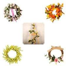 Artificial Flowers Plants Wreath Garland for Christmas Home Door Wall Decor