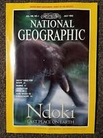 National Geographic Magazine July 1995 With Map of Heart of the Rockies,  Ndoki