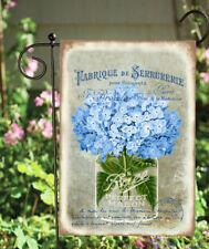 Blue Hydrangea Mason Jar Double Sided Soft Garden Flag *Garden Size* Fg1069