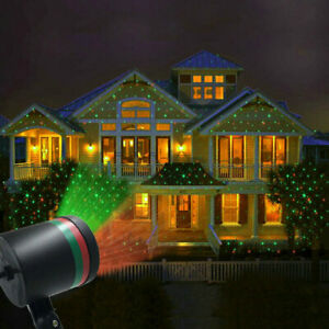 Outdoor LED Moving Laser Light Projector Christmas Party Landscape Lamps Lights