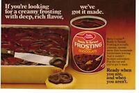 Vintage 1977 Betty Crocker Chocolate Frosting Magazine Advertisement Ad Page