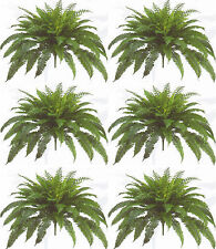 "6 BOSTON FERN 48"" SPREAD X 90 LEAF BUSH PLANT ARTIFICIAL TREE FLOWER SILK PALM"