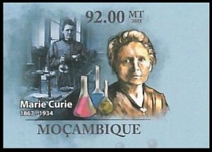Mozambique 2011 MNH Imperf, Marie Curie, Nobel Physics Chemistry