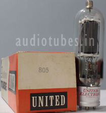 805 United Electron  U.S.A  DIRECT HEATED TRIODE  NEW OLD STOCK,  AUDIO TUBES