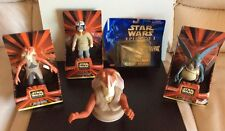 Star Wars Episode 1 Action Figures Lot of 4 plus Royal Starship Micromachine