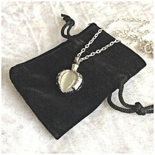 Beautiful Opal Heart Stainless Steel Cremation Jewellery Ashes Urn Necklace