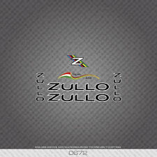 0672 Zullo Bicycle Stickers - Decals - Transfers - Black Text With White Keyline