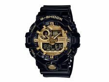 Casio G-Shock Mens Wrist Watch GA710GB-1A  GA-710GB-1A  Black/Gold 3D Face