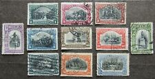 Chile 1910 100th Anniv of Independence, Mi #79-89 used incompl.set