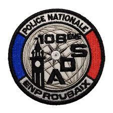 Ecusson Patch Police Nationale ADS ENP Roubaix à Scratch ou à Coudre Taille 8 cm