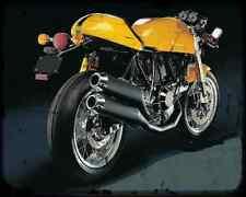 Ducati Sport 1000 A4 Metal Sign Motorbike Vintage Aged