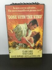 "8.5""x12.75"" Gone With The Wind Vintage Look Wood Wall Hanging Sign Movie Poster"