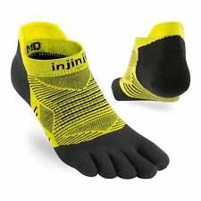 injinji Run Lightweight No Show XTRALIFE UNISEX Running Toe Socks Limeade (2020)