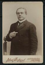 Vintage Pianist Musician: Vladimir Pachmann Cabinet Card Photograph c. 1910s