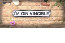 Alcohol Retro signo calle estoy Gin vinceable