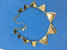 """Graduated Triangles on 18"""" Necklace signed Express"""