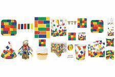 BLOCK PARTY Birthday Range - Kids Lego Bricks Tableware Balloons & Decorations